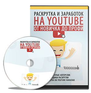 Видеокурс «Раскрутка и заработок на YouTube от новичка до профи»